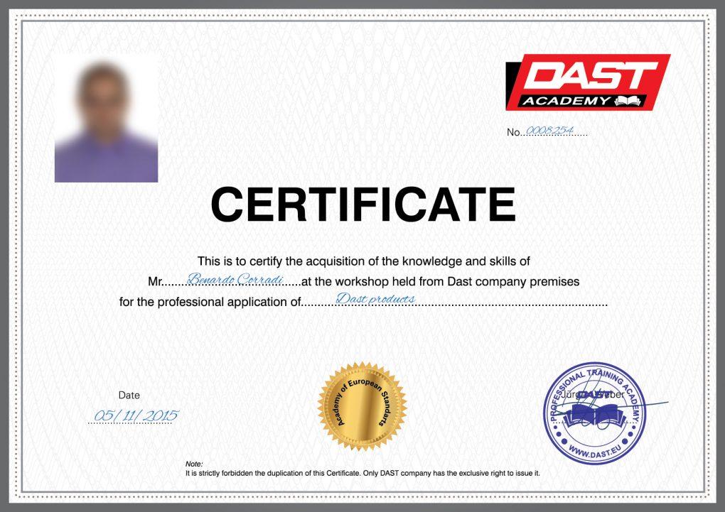 Çertifikate DESIGN Anglisht